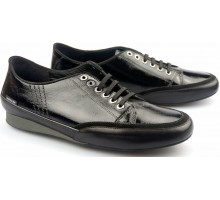 Mephisto BRENIA black patent leather women laceshoes