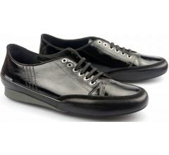 Mephisto BRENIA black patent leather women laceshoes