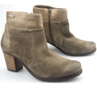 Mephisto DAMIANE dark taupe leather ankle boot for women