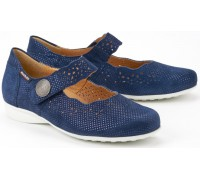 Mobils by Mephisto FABIENNE SILENCIO navy blue nubuck wide fit women shoes