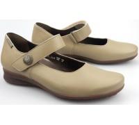 Mephisto FELINE dark taupe leather women shoe with velcro closure