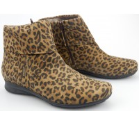 Mephisto FIDUCIA dark brown suede  ankle boots with leopard print