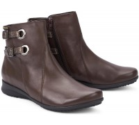 Mephisto FLAVIE leather ankle boots for women dark brown