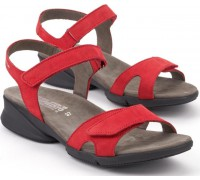 Mephisto FRANCESCA red leather sandals for women