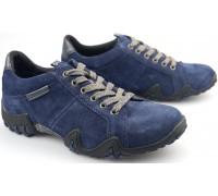 Allrounder by Mephisto FUNNY navy blue suede leather outdoor shoe for women