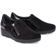 Mobils by Mephisto GARENCE nubuck slip-on WIDE FIT shoes for women black