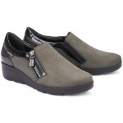 Mobils by Mephisto GARENCE nubuck slip-on WIDE FIT shoes for women grey