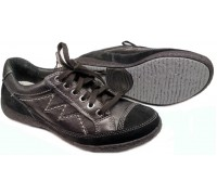 Allrounder by Mephisto GIANNA black leather women laceshoes
