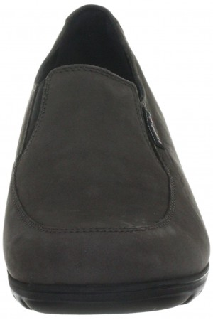 Mobils by Mephisto GINESTA grey nubuck slip-on WIDE FIT shoes for women