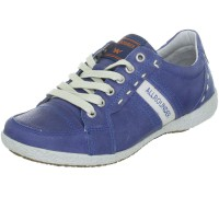 Allrounder by Mephisto GOANA jeans blue leather sneaker for women
