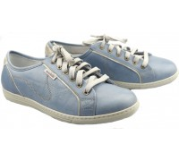 Mobils by Mephisto HOLDA cloud blue leather WIDE FIT sneaker for women