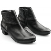 Mephisto IRIS black leather suede ankle boot for women