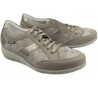 Mobils by Mephisto JOSEFINA warm grey leather shoe for women with WIDE FEET