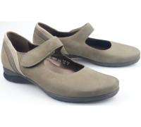 Mephisto JOYCE bucksoft grey nubuck pumps for women with velcro