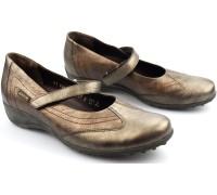 Mephisto LEIDINA bronze leather shoe for women with velcro closure