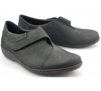 Mobils by Mephisto MARTHA graphite grey nubuck velcro shoe for women