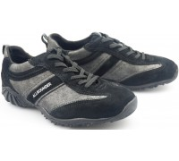 Allrounder by Mephisto ORIA black suede and metallic black leather