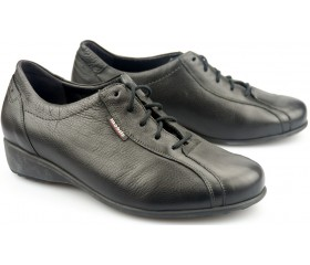 Mobils by Mephisto SABI black leather WIDE FIT laceshoe for women