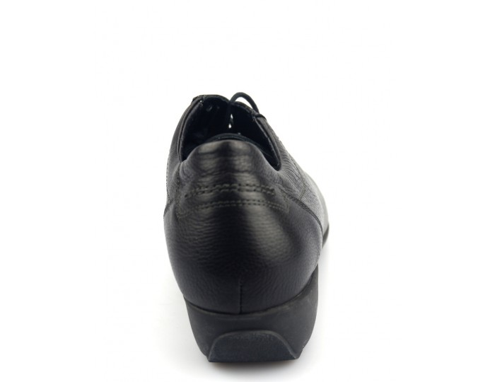 833750e6ff ... Mobils by Mephisto SABI black leather WIDE FIT laceshoe for women
