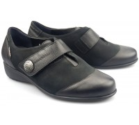 Mobils by Mephisto SAGA nubuck leather WIDE FIT shoes for women black