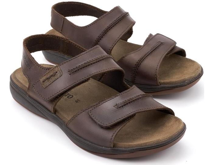 accca8f2b1 Mephisto SAGUN Men's Sandal - Dark Brown