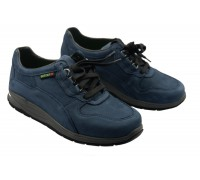 Sano by Mephisto SLASH navy blue nubuck rolling walking shoes for women