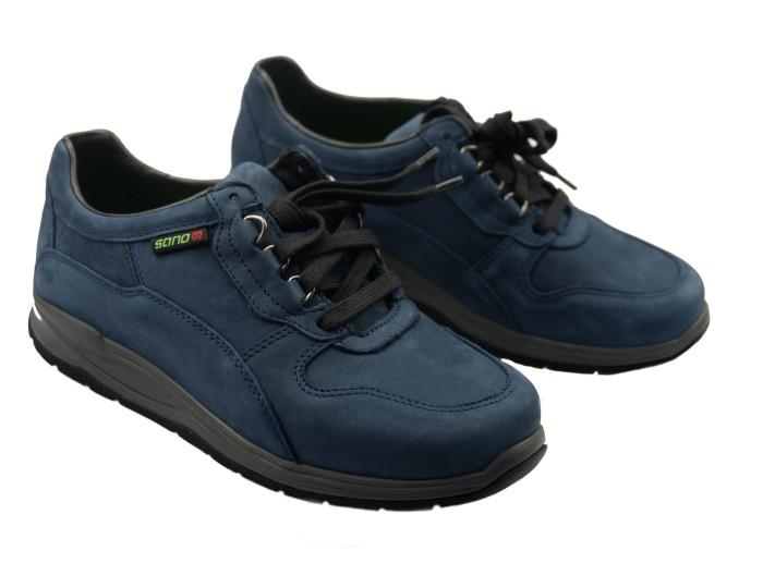 81ffcc5d72a Sano by Mephisto SLASH navy blue nubuck rolling walking shoes for women ...