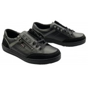 Mobils by Mephisto ARNAUD black sneaker voor men with WIDE feet