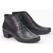 Mephisto ISABELLA black leather ankle boot for women