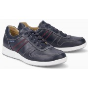 Mephisto VITO randy leather sneaker for men navy blue