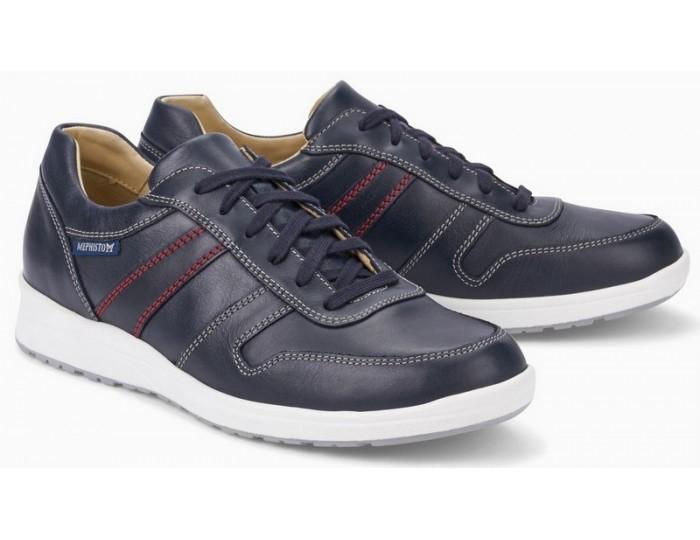 b0f30ffd65c Mephisto VITO leather sneaker for men navy blue VITO RANDY 6145 NAVY