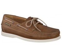 Mephisto Boating brown leather slip-on shoe for men