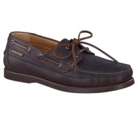 Mephisto Boating black leather slip-on shoe for men