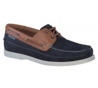 Mephisto Boating blue leather slip-on shoe for men