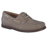 Mephisto Boating grey leather slip-on shoe for men