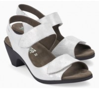 Mephisto Cecila leather sandals for women silver