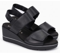Mephisto Engelina leather sandals for women black
