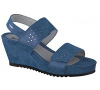 Mephisto Gilie leather sandals for women blue