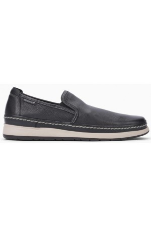 Mephisto Hadrian black leather slip-on shoe for men