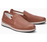 Mephisto Hadrian brown leather slip-on shoe for men