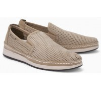 Mephisto Hadrian Perf beige leather slip-on shoe for men