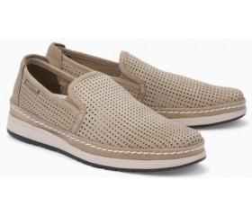 Mephisto Hadrian Perf beige leather slip-on shoe for men