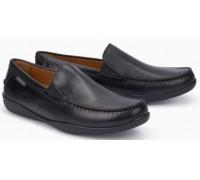 Mephisto Ianik black leather slip-on shoe for men