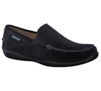 Mephisto Ianik blue leather slip-on shoe for men