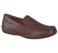 Mephisto Ianik brown leather slip-on shoe for men