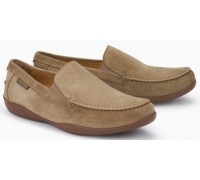 Mephisto Ianik beige leather slip-on shoe for men