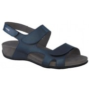 Mephisto Juliet blue leather sandals for women