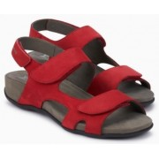 Mephisto Juliet red leather sandals for women