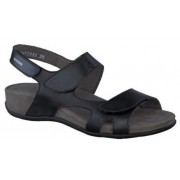 Mephisto Juliet black leather sandals for women
