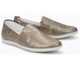 Mephisto Korie leather slip-on shoes for women dark taupe